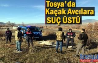 TOSYA JANDARMADAN KAÇAK AVCILARA SUÇ ÜSTÜ