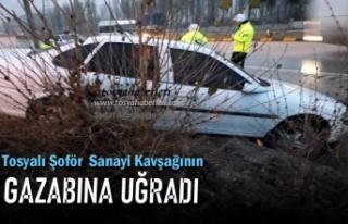 Tosya Organize Sanayi Kavşağında Trafik Kazası
