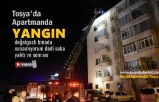 Tosya'da Apartmanda Yangın