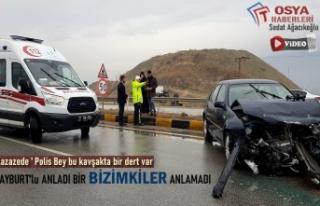Tosya Yeni Sanayi Kavşağında Trafik Kazası Meydana...