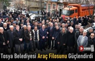 Tosya Belediyesinde 7 Araç, Törenle Hizmete Girdi