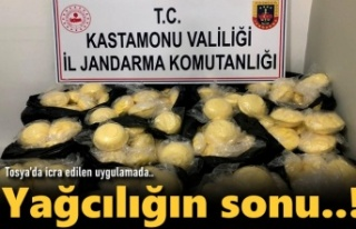 Tosya'da Kaçak Yağcılığa Jandarma Dur dedi