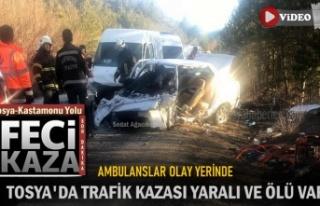 SON DAKİKA - TOSYA KASTAMONU YOLUNDA ÖLÜMLÜ TRAFİK...