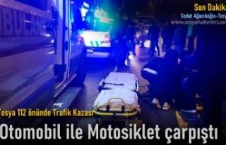 Tosya 112 Acil Servis Önünde Trafik Kazası