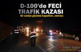 TOSYA D-100'DE GECE YARISI FECİ KAZA