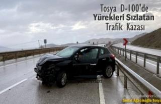 TOSYA D-100 KARAYOLUNDA YÜREKLERİ SIZLATAN TRAFİK...