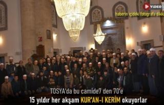 Tosya Yeni Camide 15 yıldır Esnafa Kuran-ı Kerim...