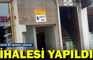 Tosya Belediyesi Umumi Tuvaleti Yeniden Yapıyor