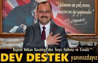 TOSYA BELEDİYESİNDEN İLÇE HALKINA VE ESNAFA DEV...
