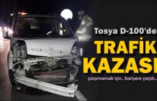 TOSYA D-100 DE HAYVANA ÇARPMAMAK İÇİN KAZA YAPTILAR