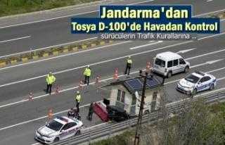 TOSYA D-100'DE JANDARMA HELİKOPTERLİ TRAFİK...