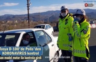Tosya D-100'de Polis Koronavirüse karşı tedbirleri...