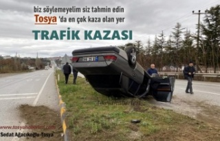 TOSYA D-100 KARAYOLUNDA TRAFİK KAZASI