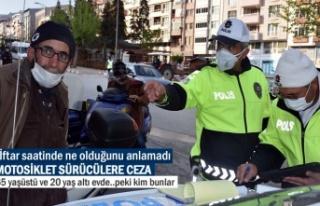 TOSYA'DA İFTAR SAATİNDE MOTOSİKLET SÜRÜCÜLERE...