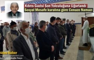 Tosya'da Kıbrıs Gazisi Son Yolculuğuna Uğurlandı