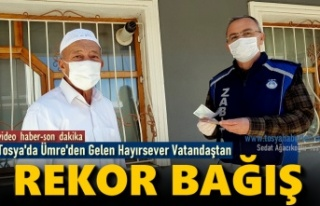 Tosya'da Ümre'den Gelen Vatandaştan Rekor...