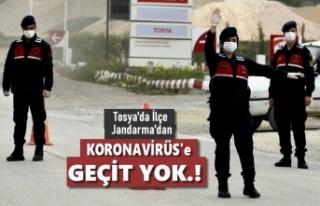 Tosya Jandarma Ekipleri İlçenin Tüm Giriş ve Çıkışlarını...