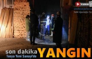 Tosya Yeni Sanayi Sitesinde Yangın