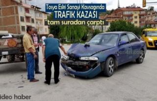 Tosya Eski Sanayi Kavşağında Trafik Kazası