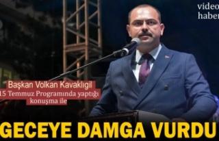 15 TEMMUZ DEMOKRASİ PROGRAMINA TOSYA BELEDİYE BAŞKANININ...