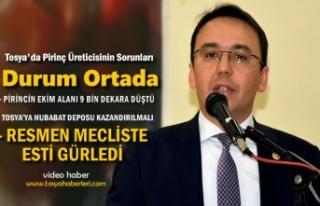 MECLİSTE TOSYA PİRİNÇ ÜRETİCİLERİNİN SORUNUNU...