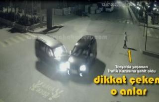 TOSYA CUMHURİYET MEYDANI TRAFİK KAZASI