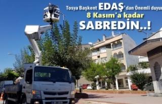 Başkent Edaş'dan Tosya'da Elektrik Kesintisi...