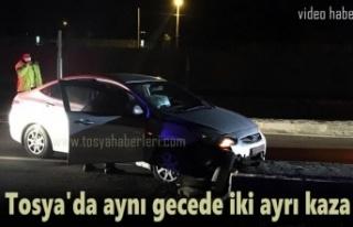 Tosya'da aynı gecede iki ayrı Kazada 2 Yaralı