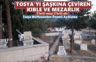 Tosya'da İlginç 3 Ayrı Mezar-Kıble Yönü