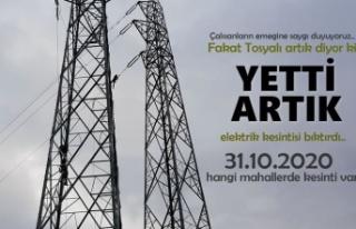 TOSYA'DA YARINDA ELEKTRİK YOK