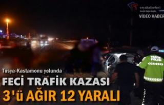 TOSYA-KASTAMONU YOLU TRAFİK KAZASI 3'Ü AĞIR...