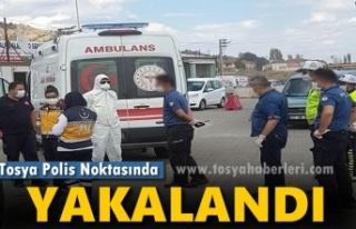 Tosya Polis Kontrol Noktasında 3 Kişi Yakalandı