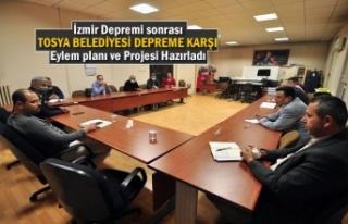 İzmir Depremi sonrası Tosya Belediyesi Depreme karşı...
