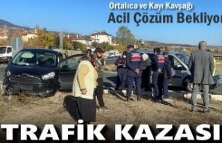 Tosya-Aşağıkayı Köyü kavşağında Trafik Kazası