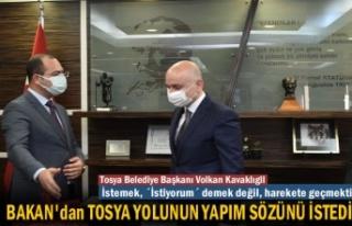 Tosya Belediye Başkanı Ulaştırma Bakanından Tosya...