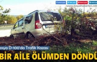 Tosya D-100'de Bir Aile Ölümden Döndü