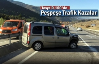 Tosya D-100'de Trafik Kazaları Peşpeşe Geldi