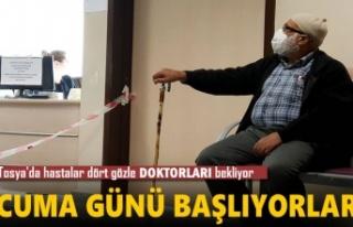 Tosya'da Hastalar Dört Gözle Cuma Gününü...