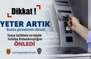Tosya'da Telefon Dolandırıcılığını Banka...