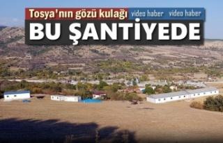 Tosya'nın Gözü Kulağı Bu Şantiyede