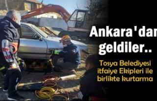 Ankara'dan Tosya Belediyesi İtfaiye Ekiplerine...