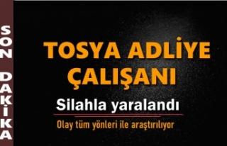 TOSYA ADLİYESİNDE SİLAHLA YARALANMA