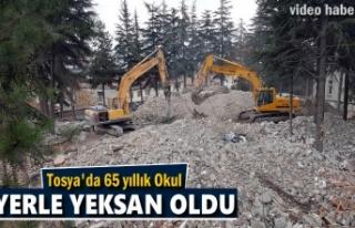Tosya Atabinen Mesleki ve Anadolu Lisesi Yıkıldı
