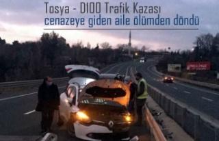 Tosya D100 de Cenazeye Giden Aile Ölümden Döndü
