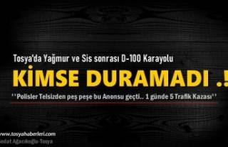 Tosya D-100 Karayolunda 1 günde 5 ayrı Trafik Kazası