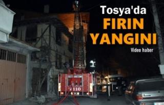 Tosya'da Gece Yarısı Fırında Baca Yangını