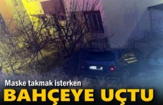 Tosya'da Otomobil Şoförü Maske Takmak İsterken...