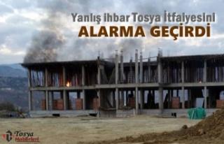 Tosya'da Yanlış Yangın İhbarı İtfaiyeyi...