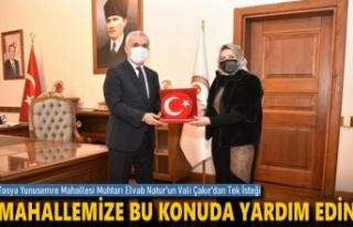 Tosya'nın İlk Bayan Muhtarına Kastamonu Valisi...