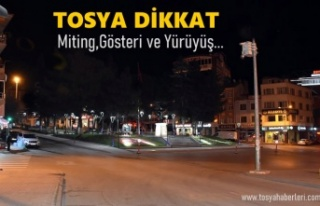 Tosya'da 2021 Yılı Gösteri ve Yürüyüş...